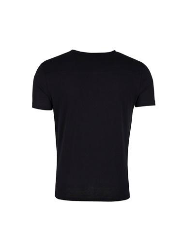 Five Pocket Five Pocket 1102 Bisiklet Yaka Kısa Kol Düğmeli Pamuk Erkek T Shirt Siyah